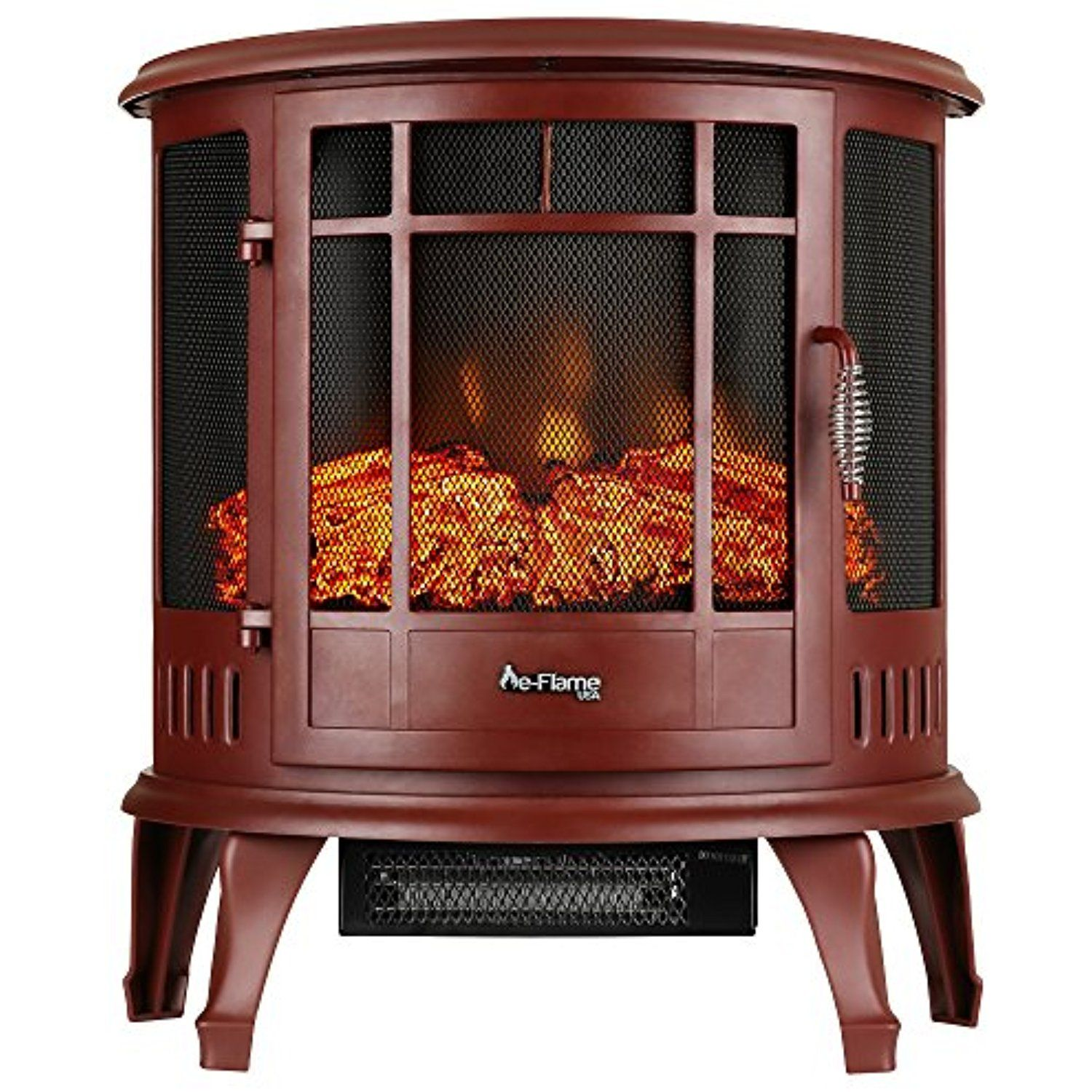 Regal Curved Portable Free Standing Electric Fireplace Stove by e