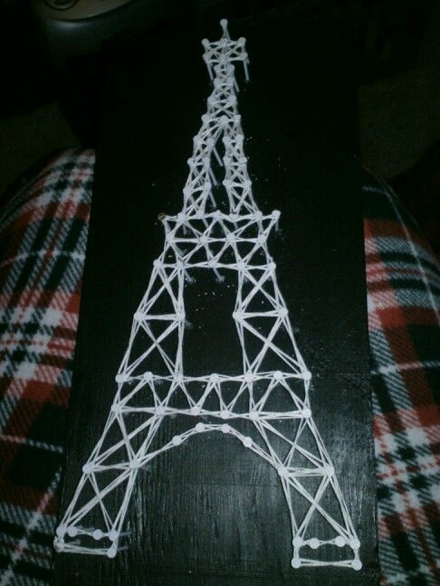 Also made this Eiffel Tower nail,string art today for my daughter! She is going to love it!