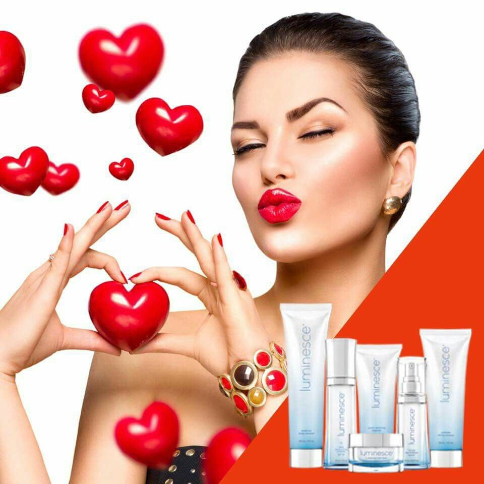 """The perfect Valentine's gift! This is by far the most incredible skin care line I have ever used! Dr. Newman whose practice is in Beverly Hills, pioneered """"stem cell technology."""" He formulated the Luminesce line to help with aging, sun damage, rosacea, psoriasis, eczema, acne prone skin, fine lines and wrinkles just to name a few! Promotional packages available as low as $199.95! Www.IzadoraStar.JeunesseGlobal.com"""