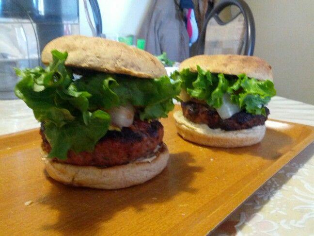 Boyfriend made home-made burgers