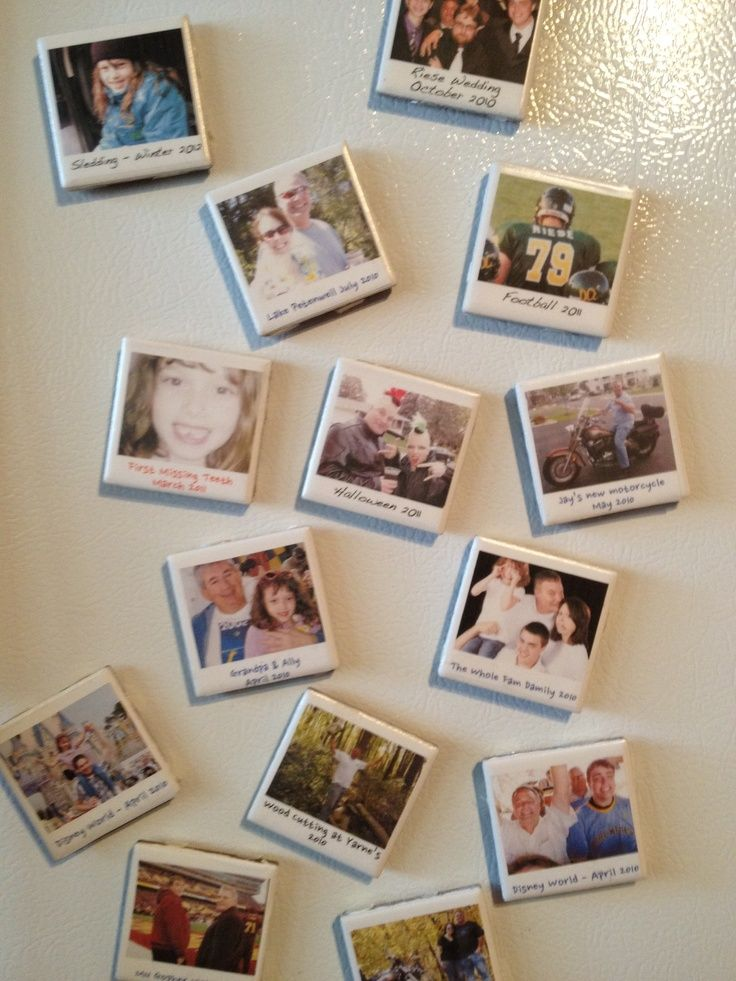 this pinner made these fun mini magnets using avery clear labels and