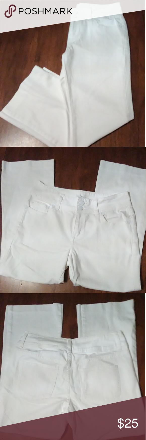 VS London Jean white capri jeans size 8 Offers VS
