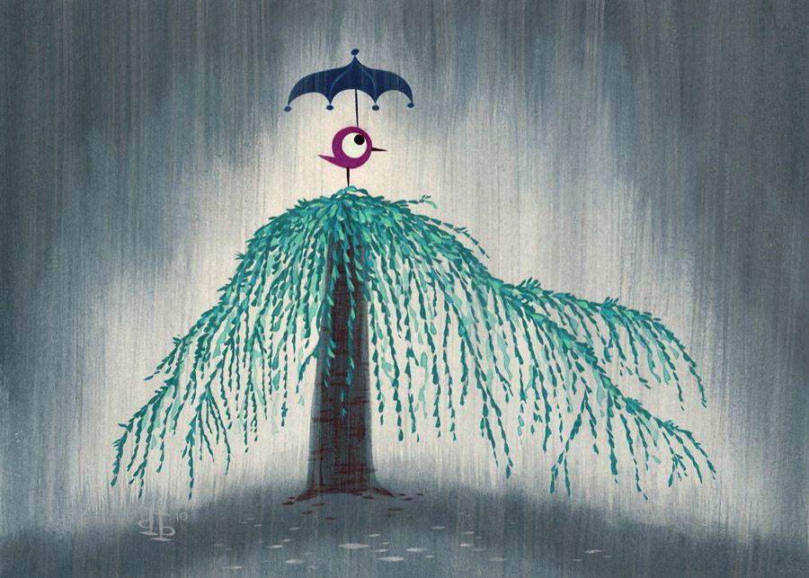 """""""Rainy Day"""" Drake Brodahl Illustration"""