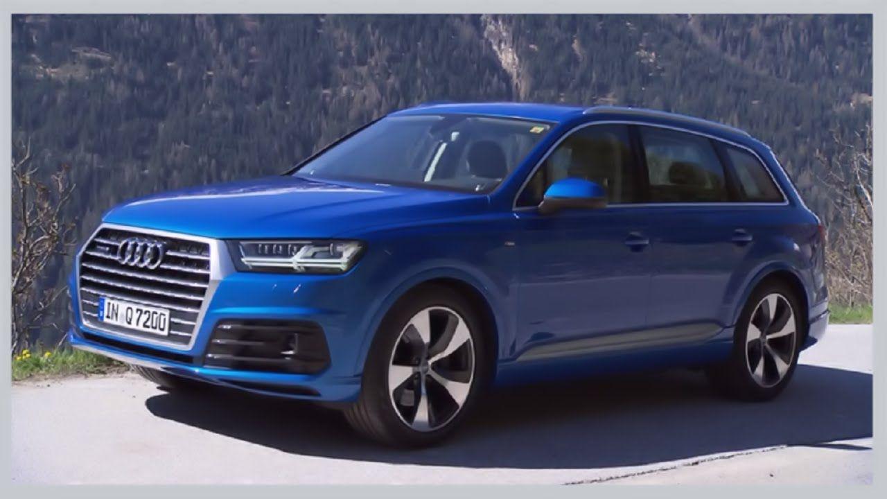 Audi 2016 audi q7 : 2016 Audi Q7 Ara Blue S-line Test Drive | Audi | Pinterest | Audi q7