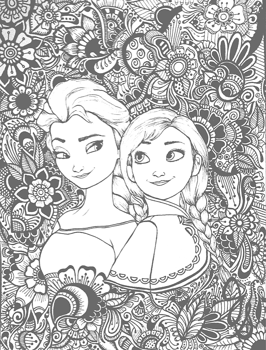 Frozen Coloring Page For Adults Frozen Coloring Pages Rapunzel Coloring Pages Elsa Coloring Pages