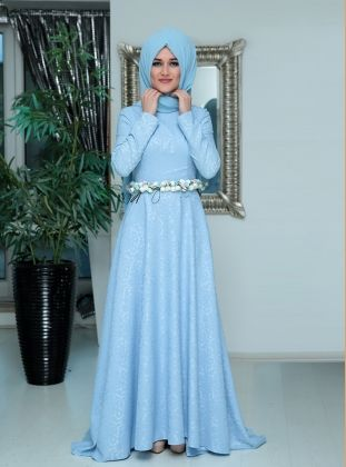 Hijab Fashion Modanisa Com Evening Dresses Dresses Hijab Evening Dress