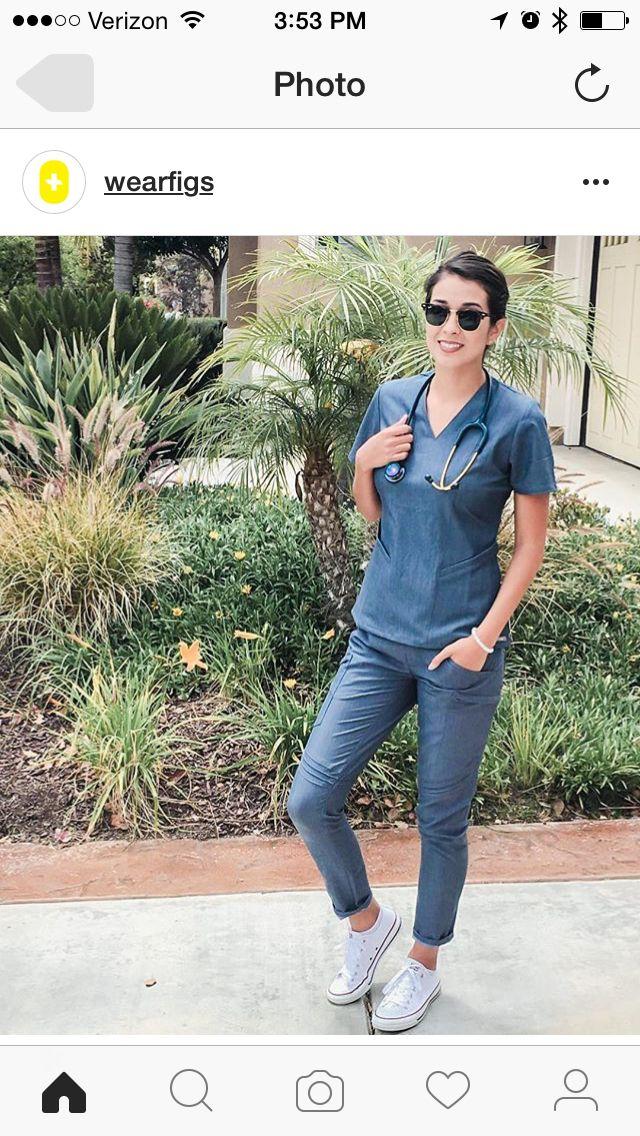 f54db45d154 Figs scrubs. School nurse uniform:) chuck Taylor | Nursing | Scrubs ...