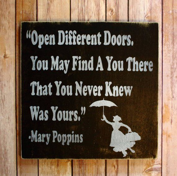 Customizable, Wood Canvas, Hand Painted, Mary Poppins Quote