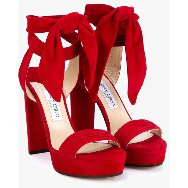 Jimmy Choo Jimmy Choo 'Kaytrin 120' Platform Sandals (22,440 PHP) ❤ liked
