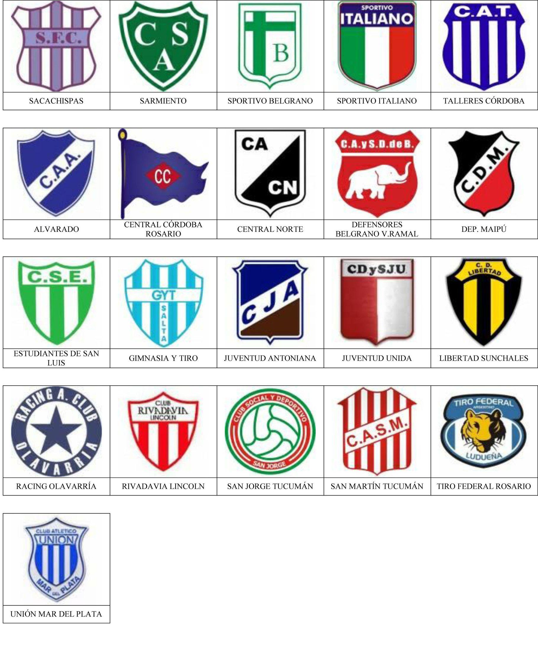 Argentina Pins De Escudos Insiginas De Equipos De Fútbol Escudos De Futbol Argentino Equipo De Fútbol Futbol Argentino