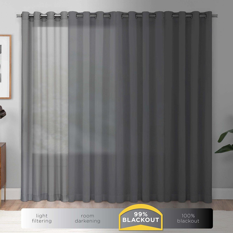 Eclipse Bryson Blackout Window Treatments Panel curtains