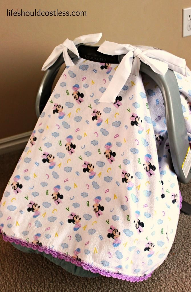Quick Carseat Canopy Tutorial This Project Was Free By Using Both A Blanket And Fabric