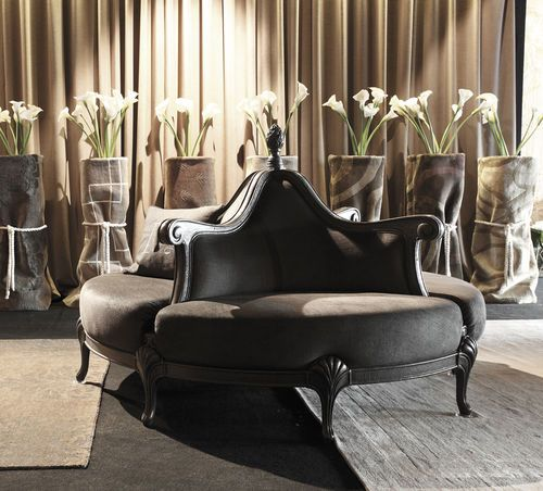 What A Beautiful Mix Of Dark Moody Glam And Inviting By: Classic Style Round Sofa MOON Mantellassi 1926