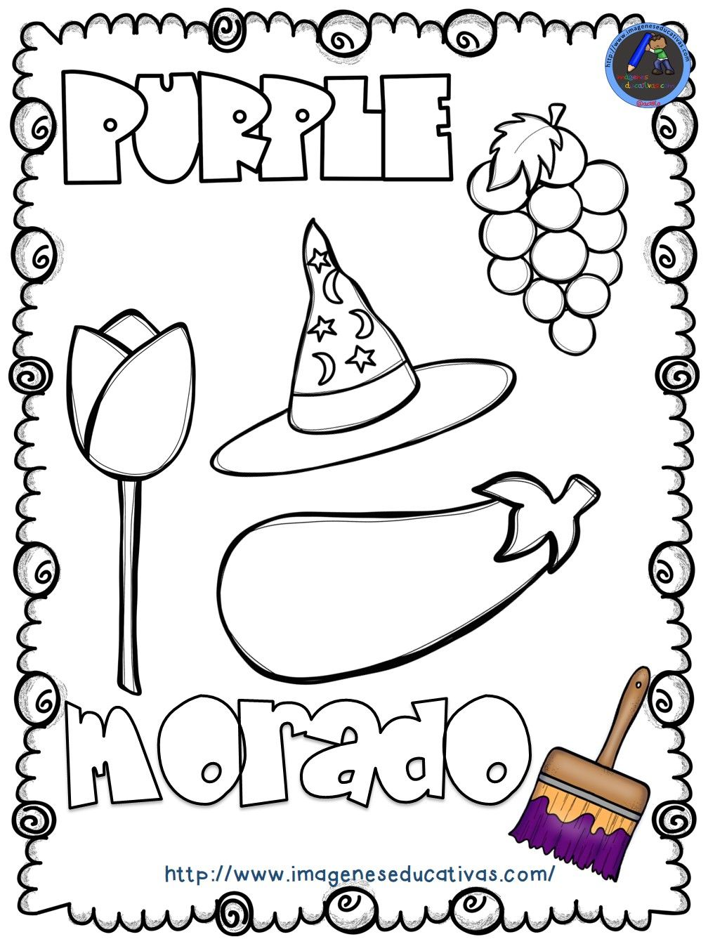 Mi libro de los colores para colorear (10   Preescolar, Actividades ...