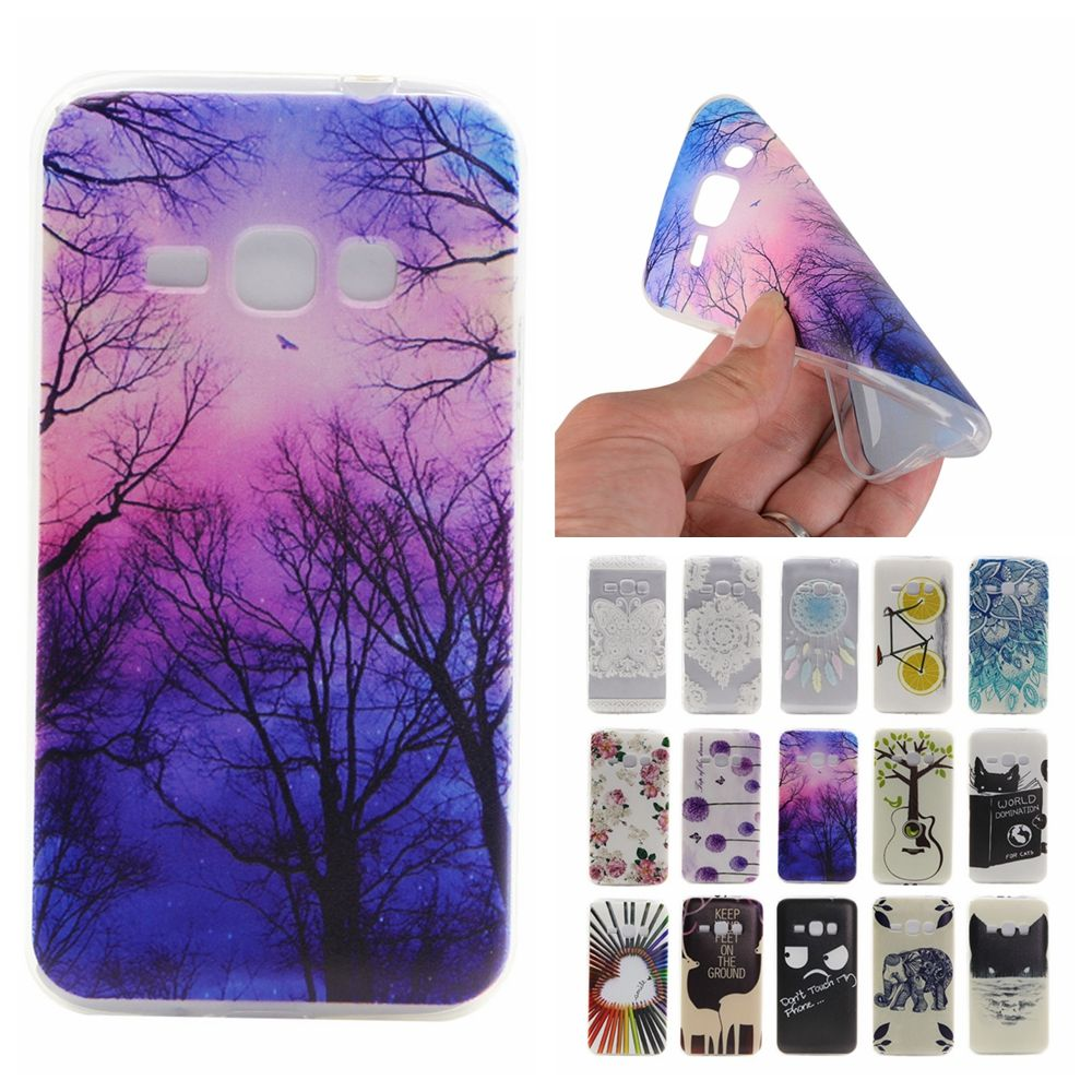 For Coque Samsung J1 2016 Case Silicone Cute Transparent Cover for ...