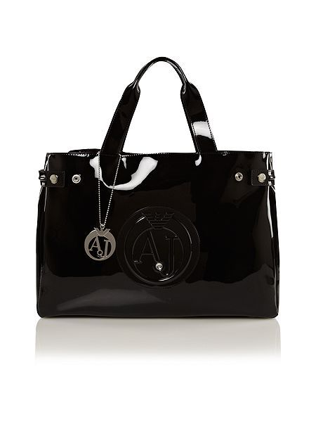 Armani Jeans Patent black tote bag   Handbags and purses. Women s ... 5bbef8946e