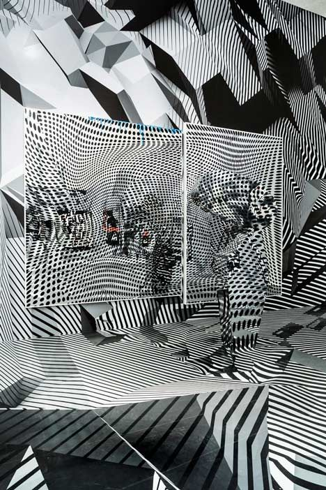 D Illusion Exhibition : Tobias rehberger quot home and away outside schirn