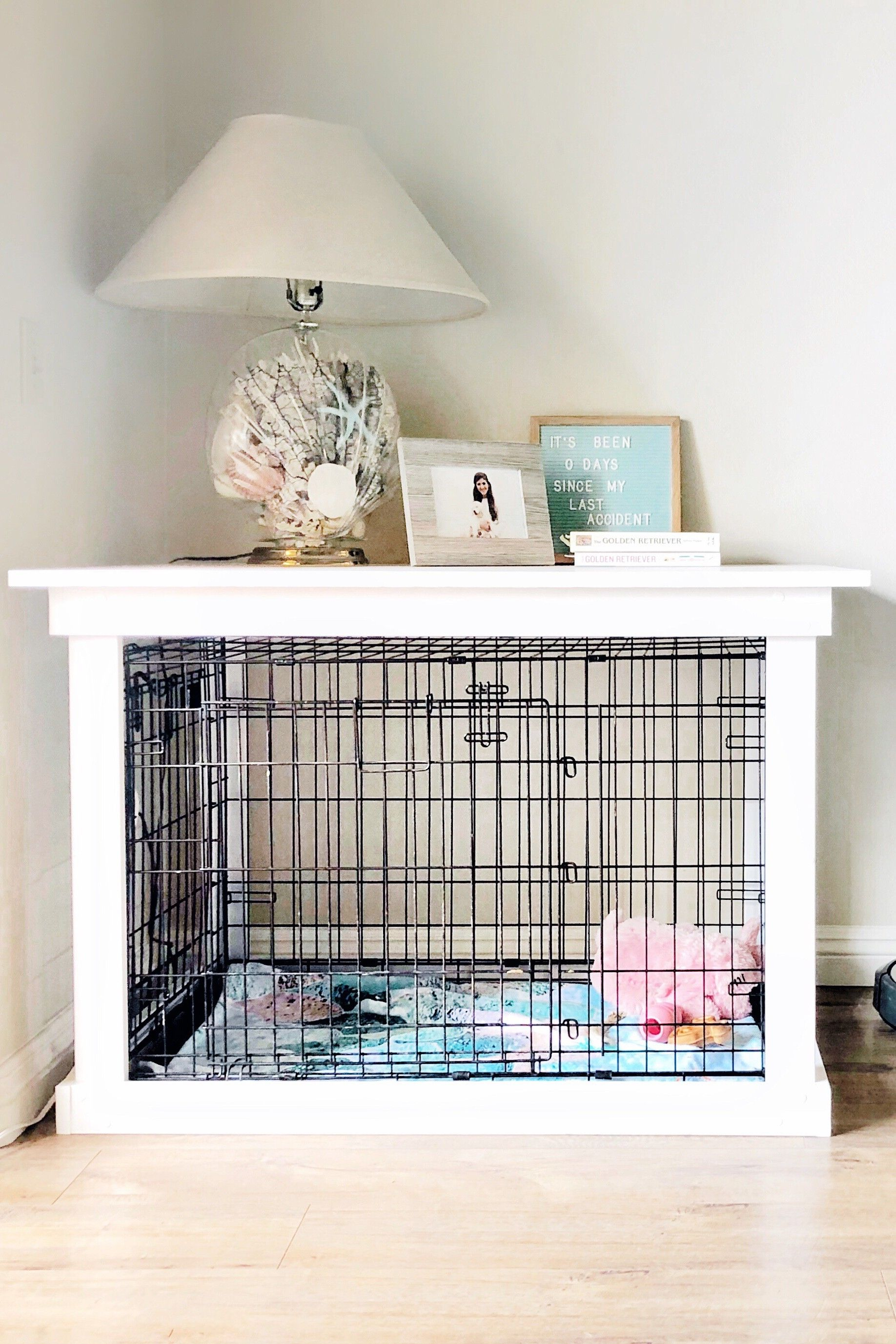 This Diy Dog Crate Is Supercute And Looks Like A Chic Piece Of Furniture Dog Crate Furniture Crate Furniture Diy Dog Crate