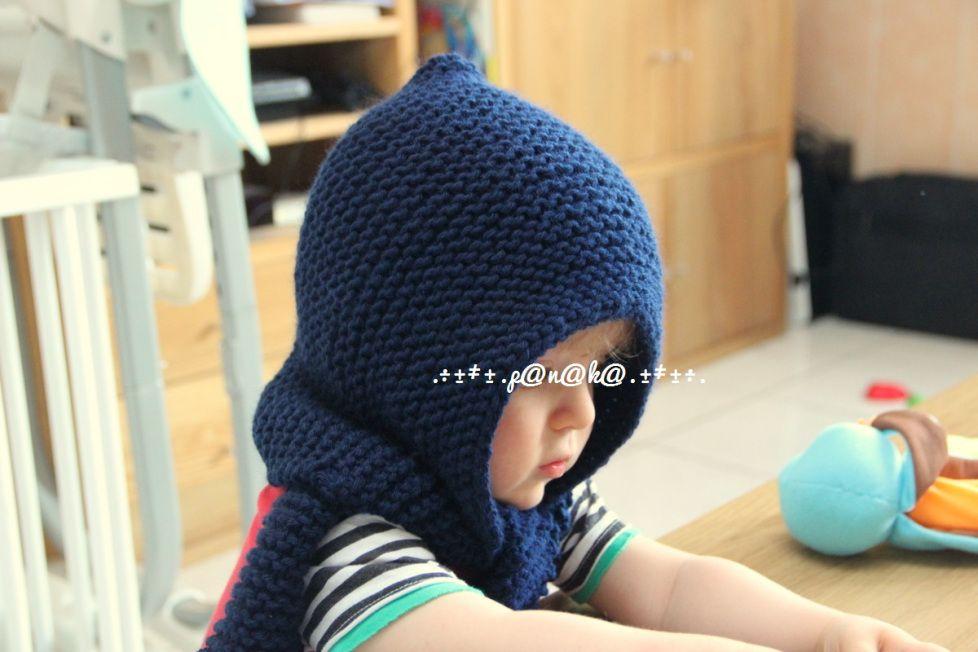 Un Bonnet Echarpe version 2 ans (tuto)   Pour bébé   Tricot, Crochet ... af8cc53f48f