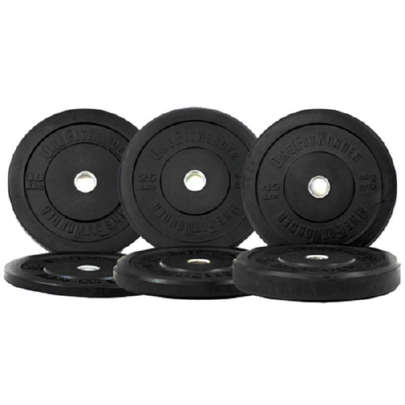 New 160 lb Rubber Olympic Bumper Plates Weight Plates Gym Training OneFitWonder #OneFitWonder  sc 1 st  Pinterest & New 160lb Black Bumper Plates Set by OneFitWonder - 10/25/45lb Pairs ...