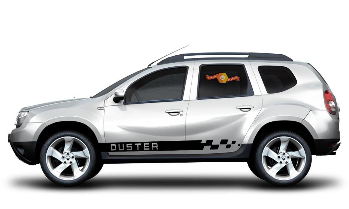 Duster Renault Dacia 2x Side Stripes Body Decal Vinyl Graphics Sticker Logo Fondo De Pantalla De Manzana Muebles Con Durlock [ 720 x 1200 Pixel ]
