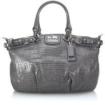 Coach Madison Embossed Croc Sophia Satchel Handbag  #BBOSBrandBurst