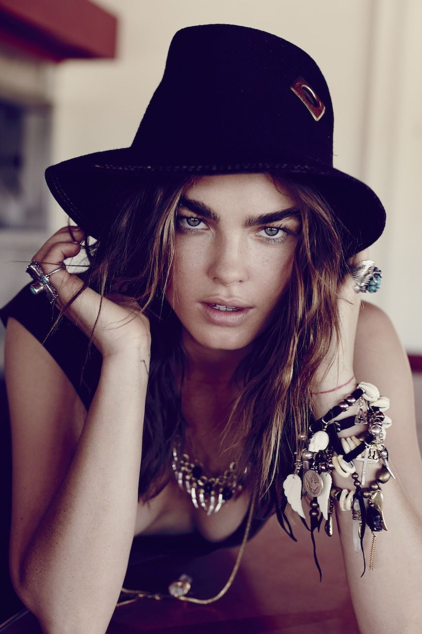 Boho summer: hat and arm candy. Spell Wild Heart Look book August 2013 Model Bambi @ IMG Photographer Zoey Grossman