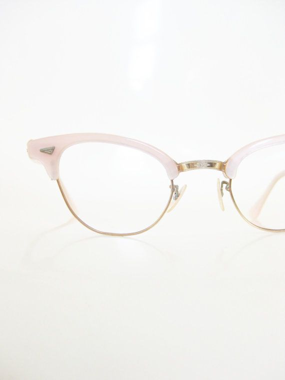 cd4b92ca15c Pink Cat Eye Glasses 1950s Lord Optical Eyeglasses Pastel Light Pearl  Pearlescent Girly Girl Womens 50s Fifties Hipster Chic Classic Mod
