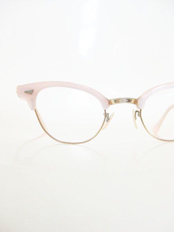 Pink Cat Eye Glasses 1950s Lord Optical Eyeglasses Pastel Light ...