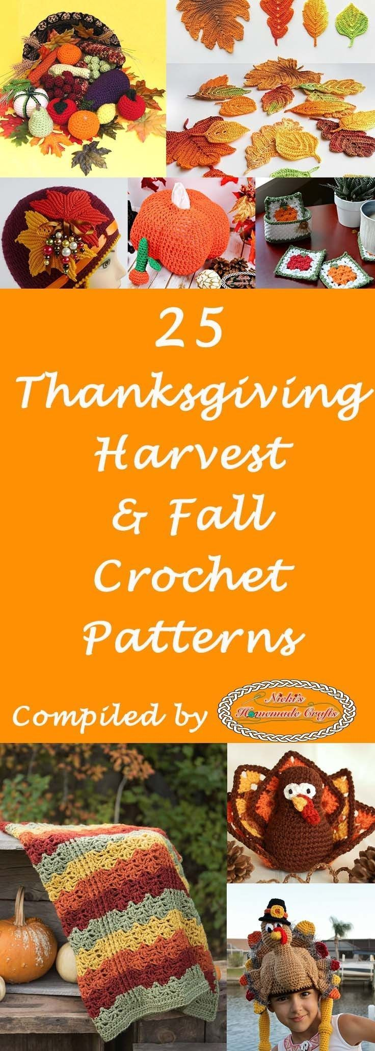Thanksgiving Harvest and Fall Crochet Pattern Roundup Thanksgiving Harvest and Fall Crochet Pattern Roundup