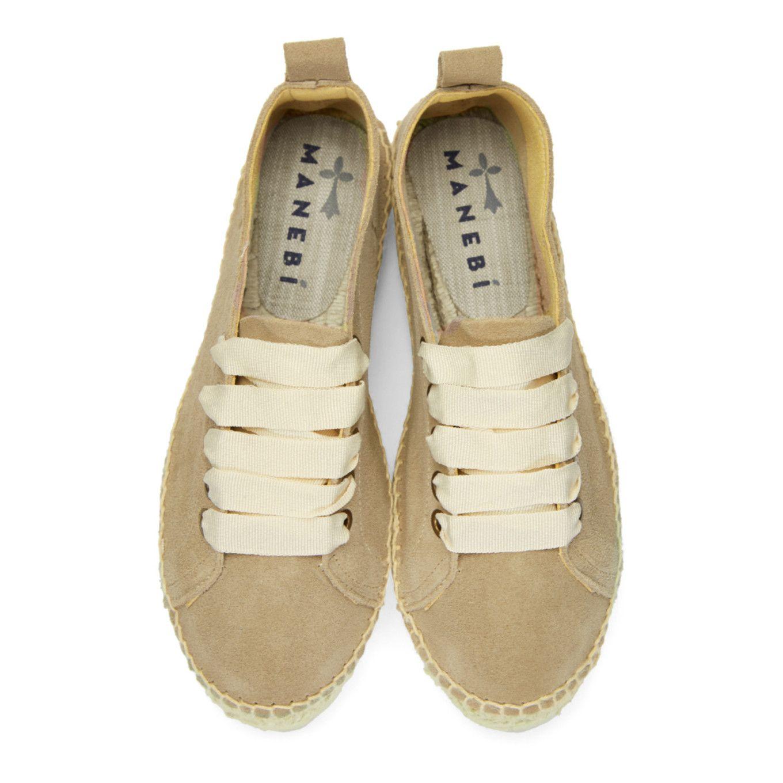 Manebí Taupe Hamptons Double Sneaker Espadrilles