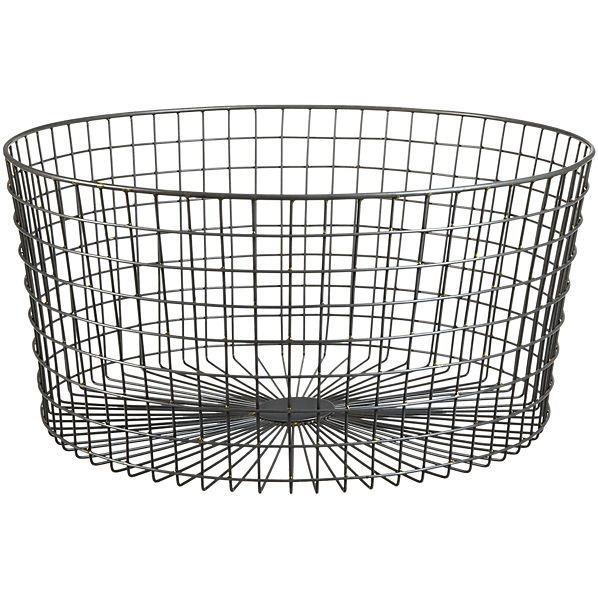 Gridlock Large Raw Industrial Basket Industrial Baskets Decorative Storage Baskets Funky Home Decor