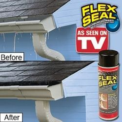 Flex Seal Spray This Stuff Really Seals Up Small Roof Leaks Fast Rubber Sealant Roof Problems See On Tv