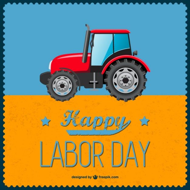 Labor Day Tractor Background Vector Free Vector Illustration Photoshop Design