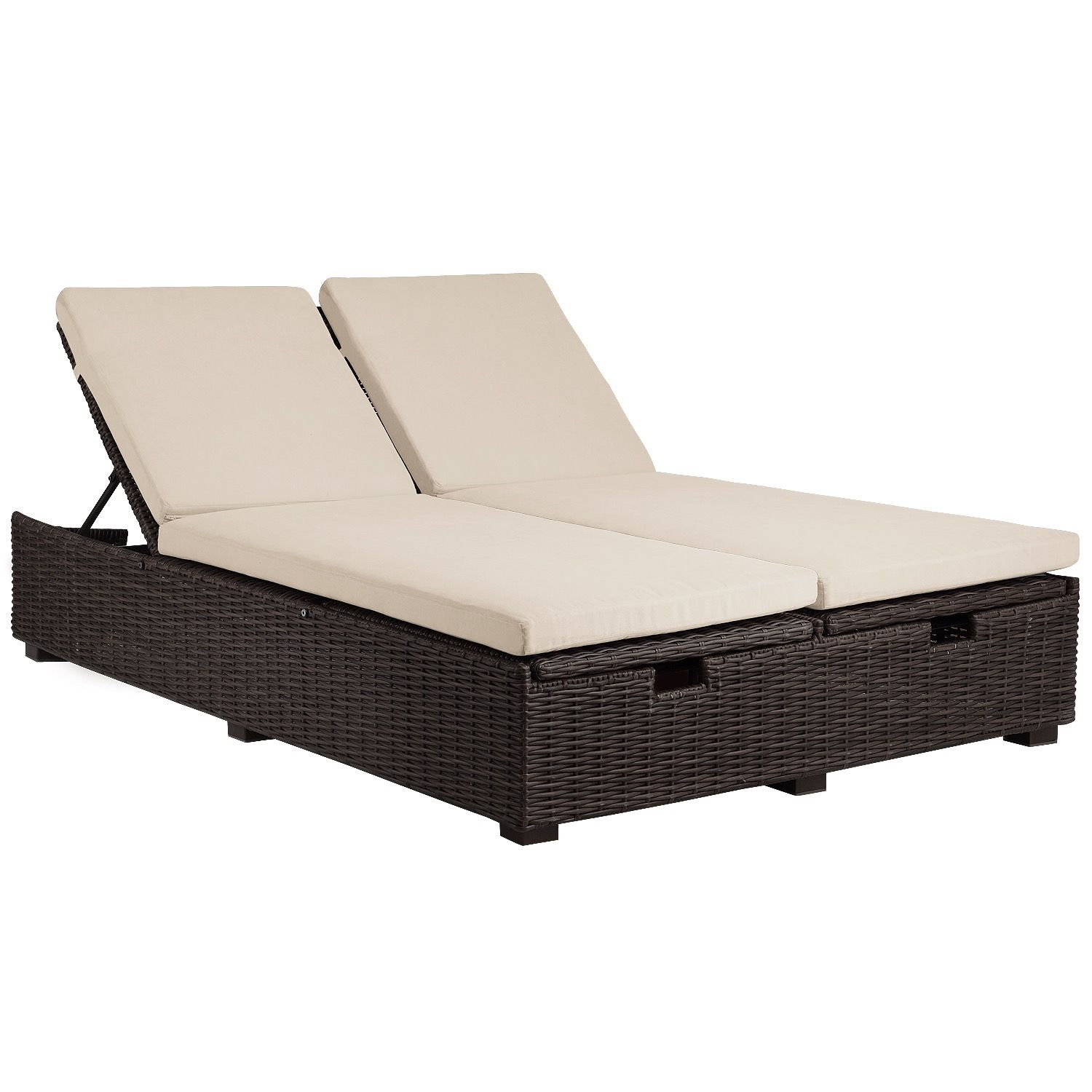 Echo Beach Tobacco Brown Double Chaise Lounge Double Chaise Lounge Outdoor Couch With Chaise
