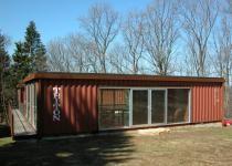 The Quik- House.    Adam Kalkin's Shipping Container Prefab Green Home in Califon.