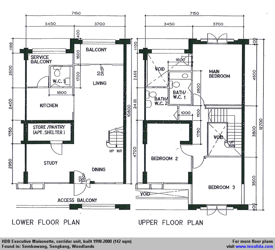 Hdb Executive Maisonette Floor Plan 142 Sqm Floor Plans How To Plan Maisonette