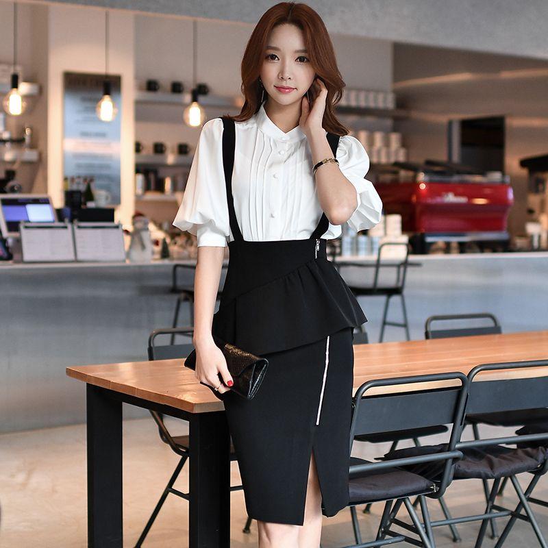 3c92050c06bdb dabuwawa suspender skirt 2017 spring OL new slim waist sexy fashion ...