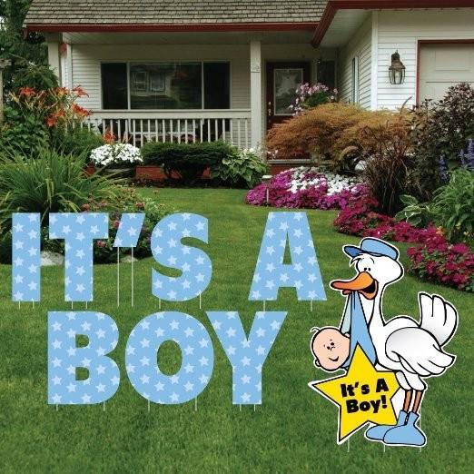It S A Boy Yard Card Letters Stork Baby Announcement 9 Pcs Free Shipping 12349 In 2020 Yard Cards New Baby Products Welcome New Baby