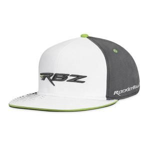 TaylorMade Rocketballz RBZ Flat Bill WHITE GRAY Fitted Hat Cap Golf  Fashion 7b26f6402d6