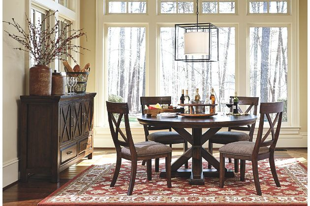 Gather Round In Rustically Refined Style With The Windville Dining Room Table Its Distinctive