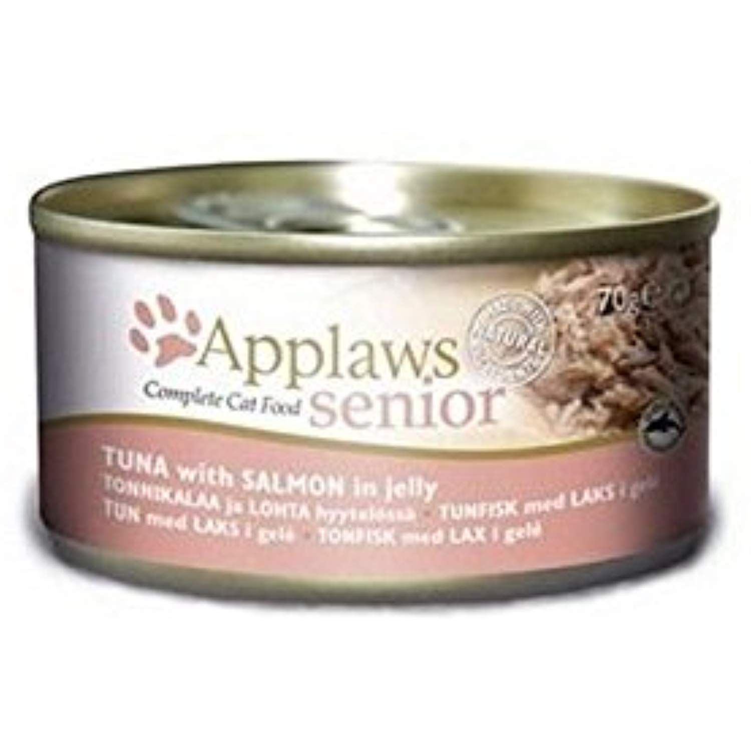 Applaws Cat Tin Tuna With Salmon In A Soft Jelly 70g Pack Of 6 See This Great Product This Is An Affiliate Link Catfood Canned Cat Food Salmon Tuna
