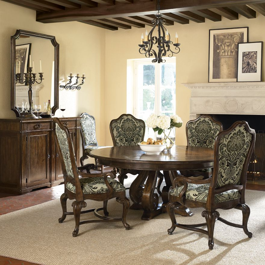 16 Absolutely Gorgeous Mediterranean Dining Room Designs: Artisan Estate Round Dining Table (325-275