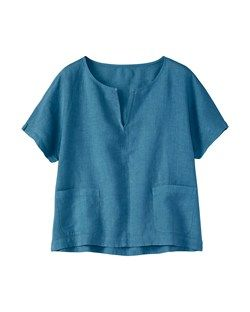 WASHED LINEN TOP by TOAST
