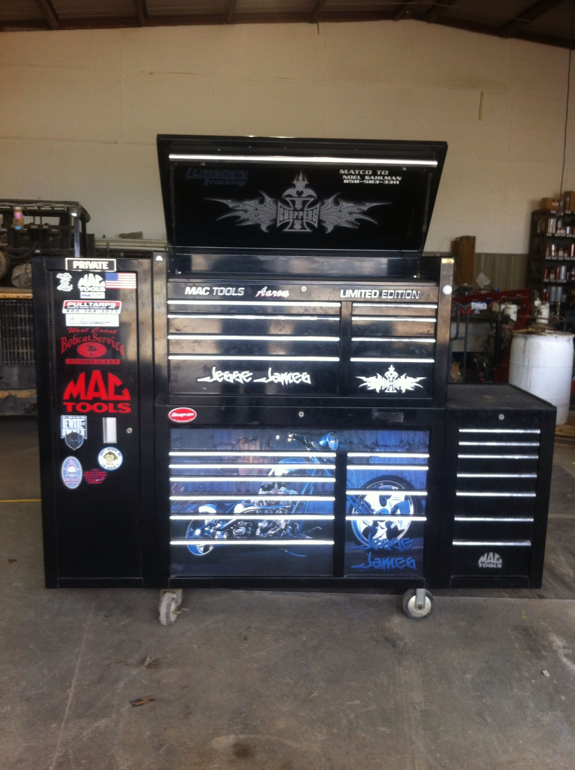 Shop Tool Boxes Jesse James Mac Tool Box Garage Shop Tool Storage Mechanic