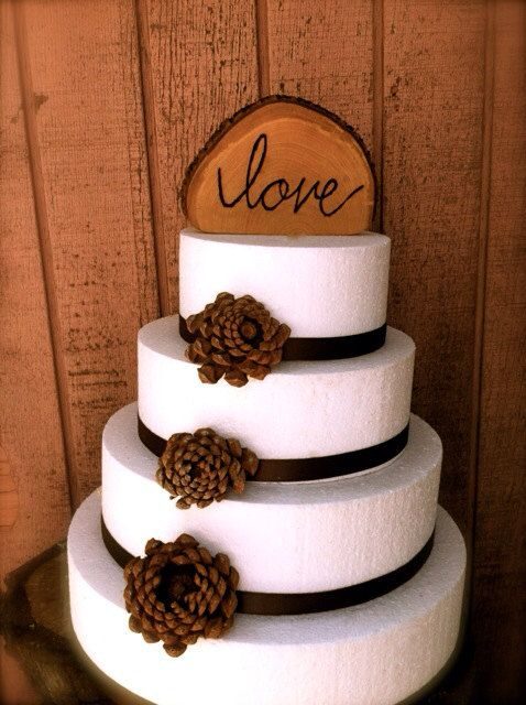 Wooden Rustic Wedding Cake Topper Fall Country By MomoRadRose
