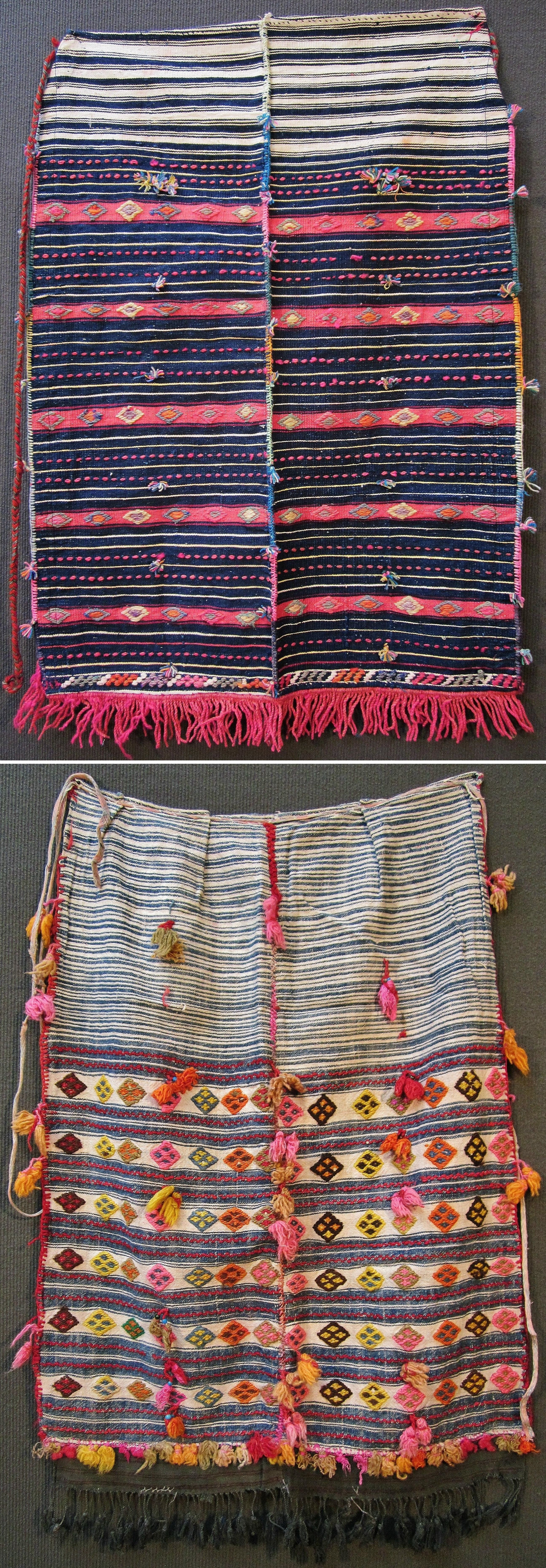Two traditional 'önlük' (apron) for women, from the