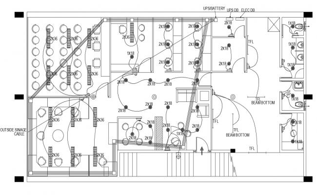 Autocad Drawing Of Electrical Layout Of Office Electrical Layout Architecture Drawing Autocad