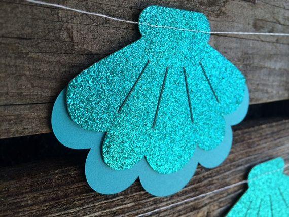 Mar conchas sirena fiesta Garland-bajo el mar por BlueOakCreations