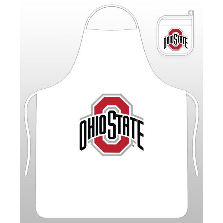 Ohio State Buckeyes Apron & Oven Mitt